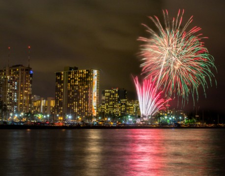 A World-Class Fireworks Display for a World-Class Beach