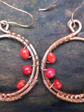 Copper & Coral Earrings