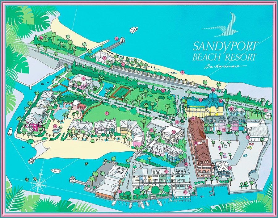 sandyport resort map no legend