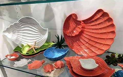 Shell Shop with plates & soaps