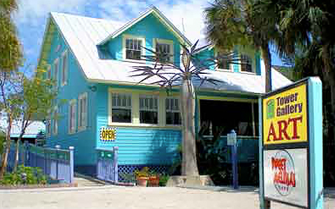 Sanibel Art Gallery blue building