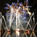 Firework over lake at epcot illuminations show