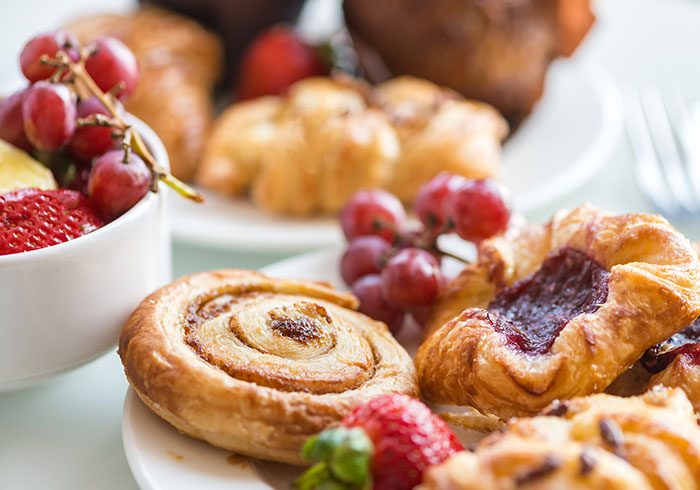 Fresh Fruit and Pastries