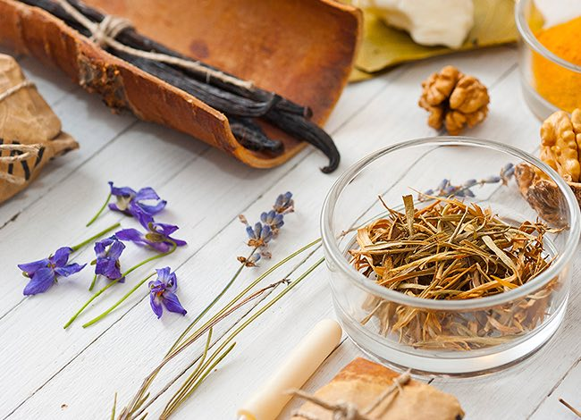 lavender and other herbs for spa treatments