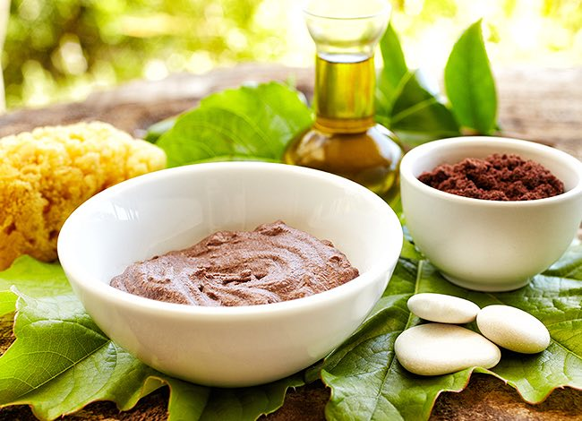 spa treatment creams in bowls