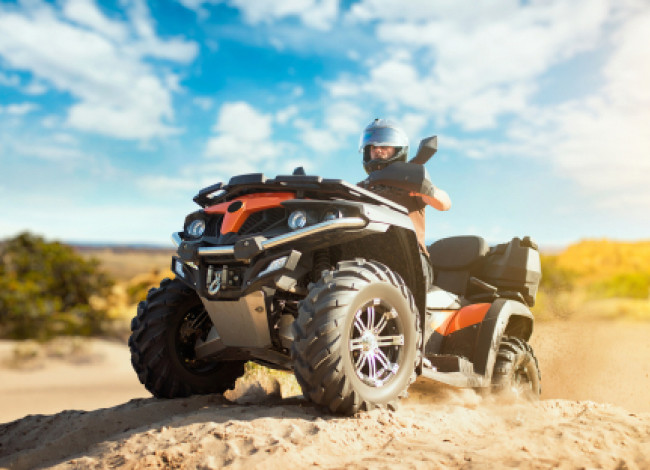 atv on dirt road