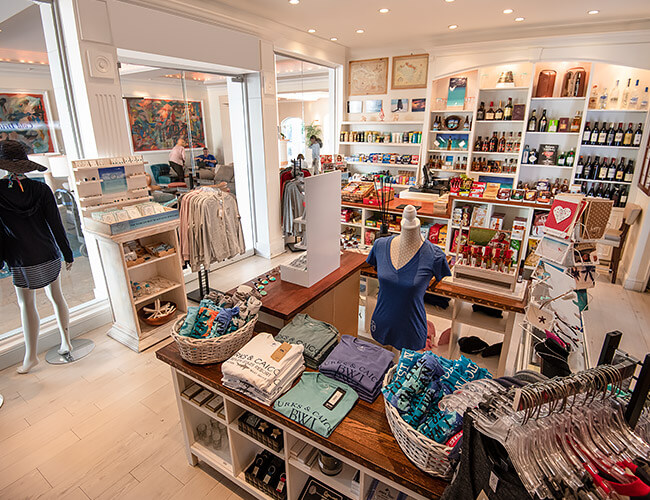 boutique with clothes and accessories