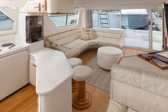 shem creek yacht living area