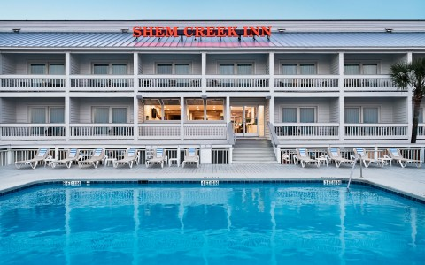 Full photo of the back exterior of Shem Creek Inn