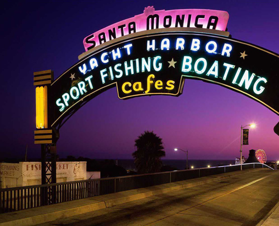 Santa Monica Pier Sign Entrance