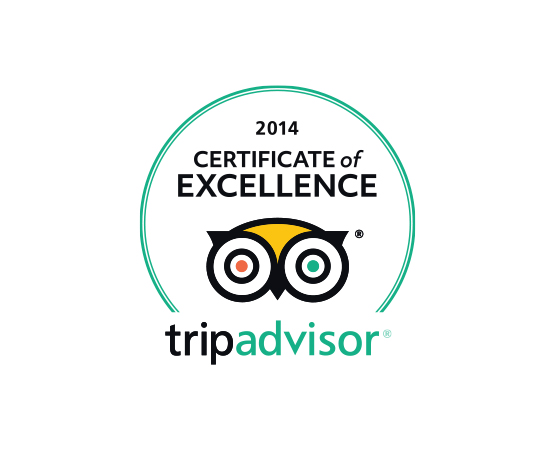 SHORE Images Footer TripAdvisor Excellence 2014