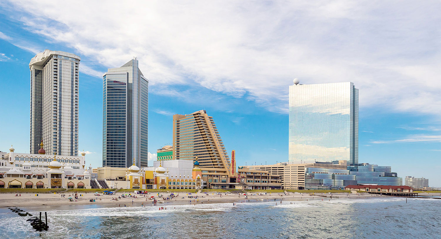 Hero image of Atlantic City boardwalk and showboat from ocean view