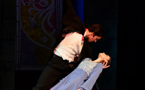 Count Dracula and Lucie in a Scene from the Ballet Dracula