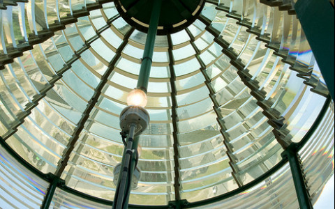 Interior Light at the top of the Absecon Lighthouse
