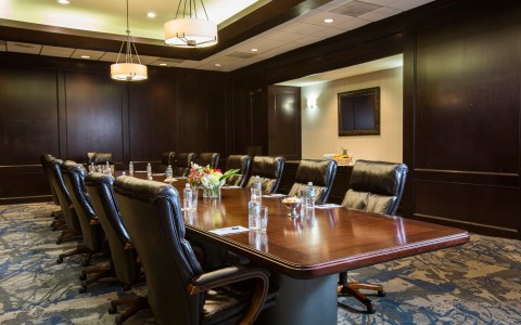 Conference table with chairs