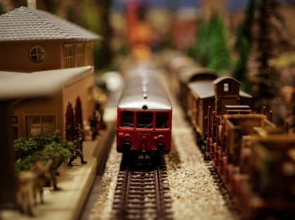 railroad train toy model
