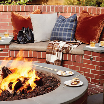 fire pit and smores
