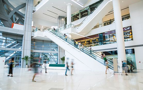 people shopping at a mall