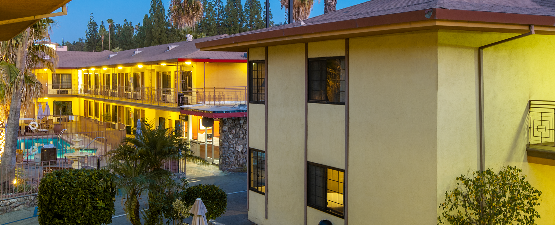 exterior building view of studio city court yard hotel