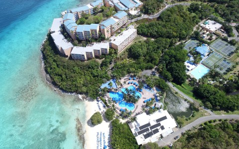 Sugar Bay Resort Pool Aerial View