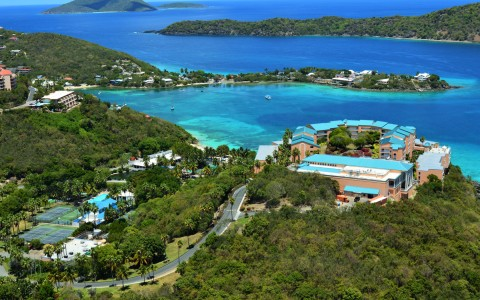 Aerial View of Sugar Bay Resort
