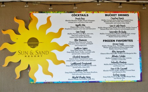 resort dining menu