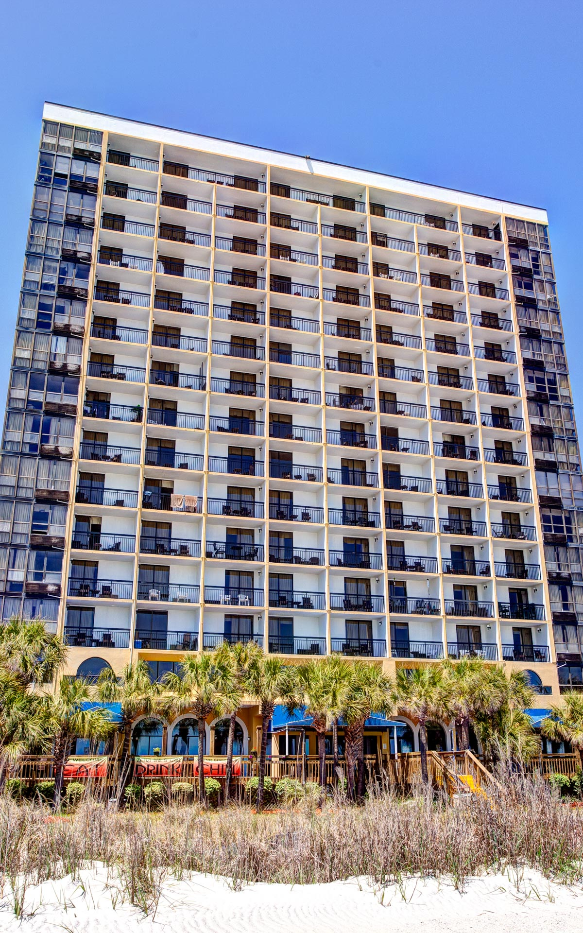 Exterior Of The Sun N Sand Building On Myrtle Beach