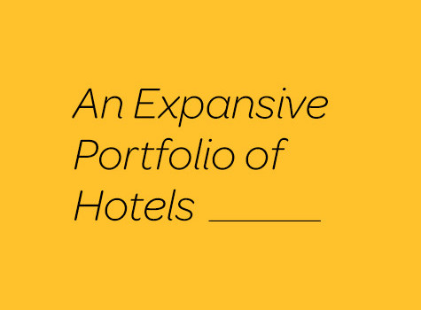 An expansive portfolio of hotels graphic