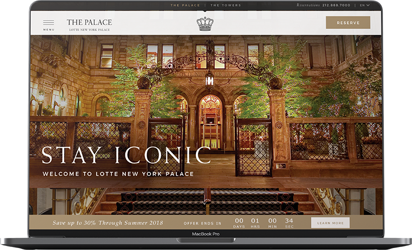 Lotte New<br>York Palace Laptop view