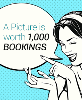 A picture is worth 1,000 bookings ebook cover