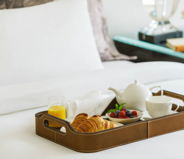 Breakfast in Bed at Lotte New York Palace
