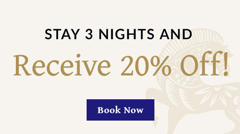 Stay 3 nights And Receive 20% off