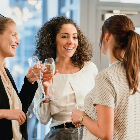 ladies networking over cocktails