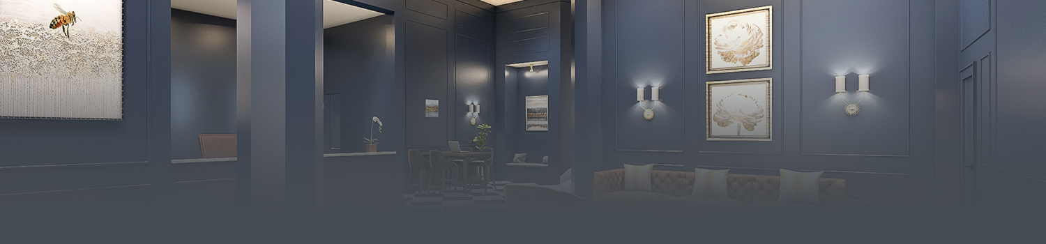 hotel lobby with grey gradient
