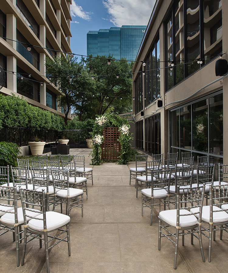 chairs seated outside for a wedding