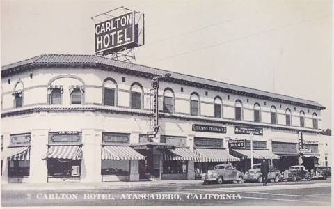 black and white old photo of the Carlton