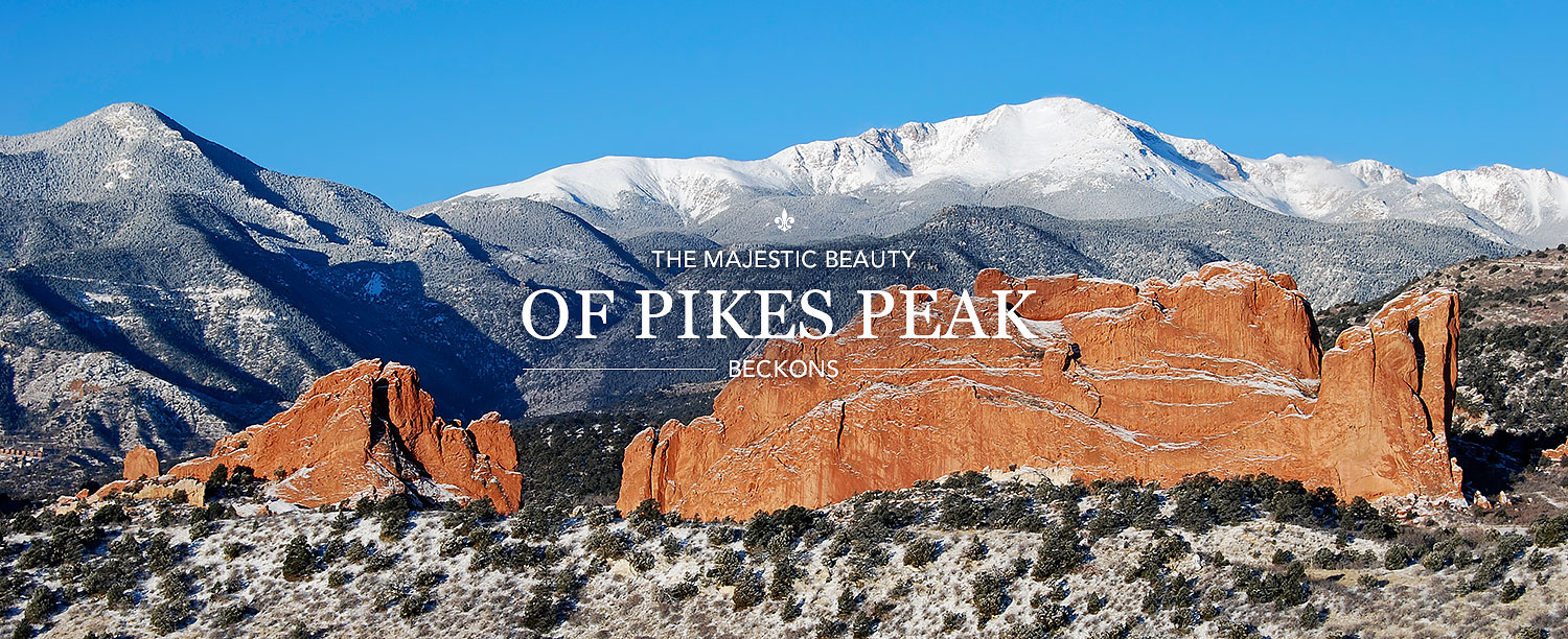 The Majestic Beauty of Pikes Peak Beckons with mountains in the background