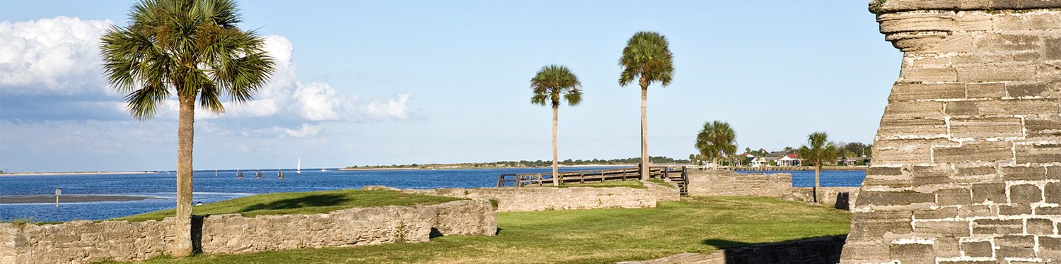 St. Augustine Castillo de San Marcos and water view