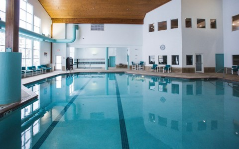 the indoor pool at cove of lake geneva