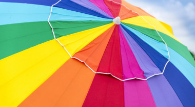 rainbow beach umbrella detail