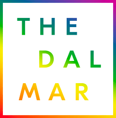 dalmar weddings logo rainbow