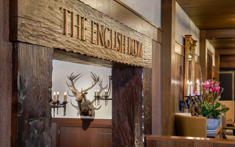 entrance to the english room restaurant