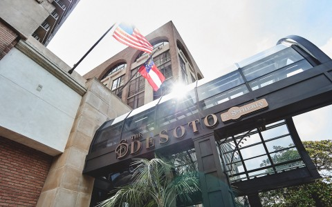 exterior of the desoto sign