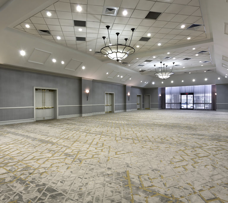 large meeting space with carpet floors