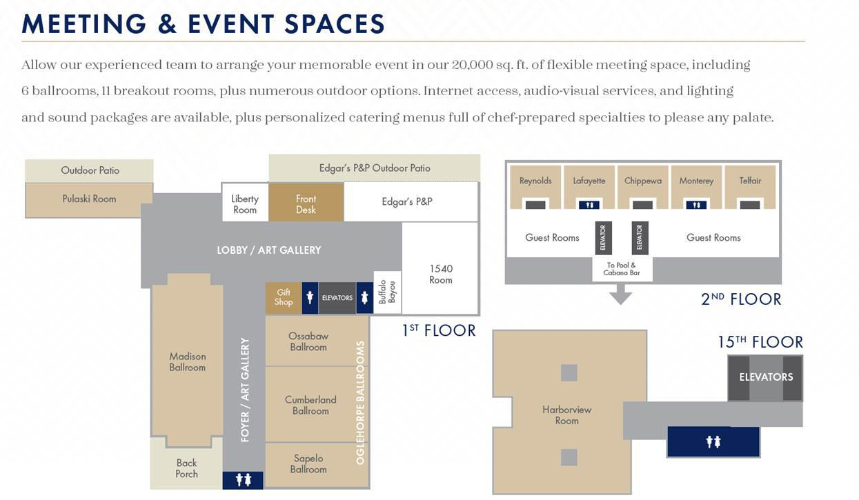 Meetings and Events Floorplan