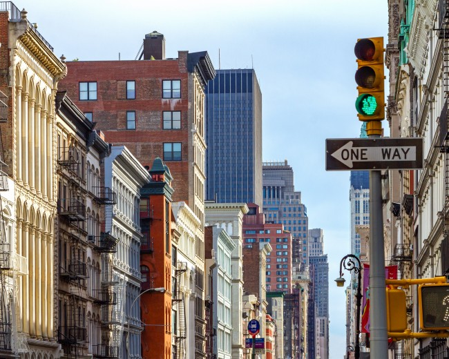 a photo of soho in nyc