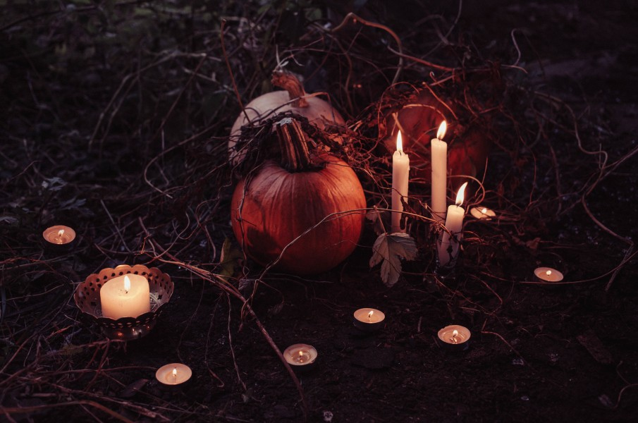 Pumpkins and Candle Sticks