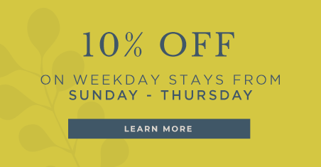 10% off weekday stays