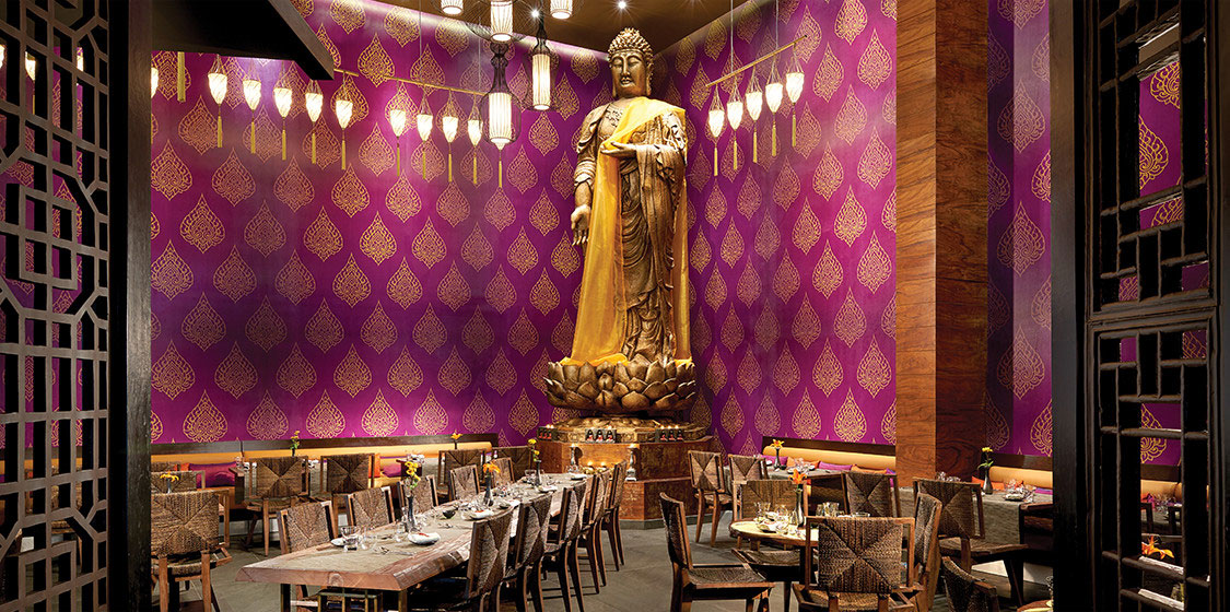 buddha statue in restaurant