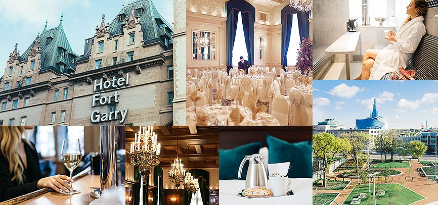 collage of Fort Garry hotel photos